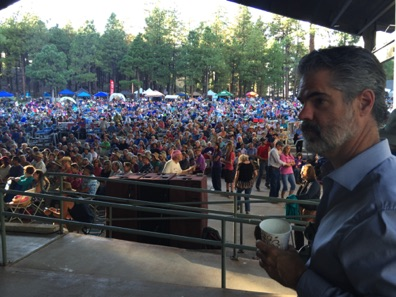 Nick backstage at Pickin in the Pines