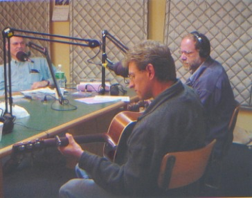 Dix and Jim on the Bill Malone radio show in Madison WI